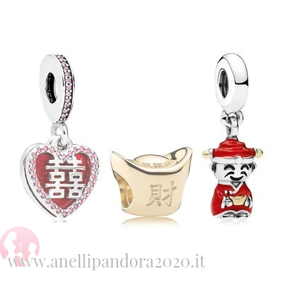 Prezzi gifts Pandora Happiness Fortune And Luck Charm Pack